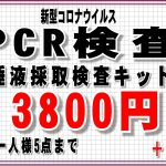 新型コロナウイルスPCR検査キット入荷しました